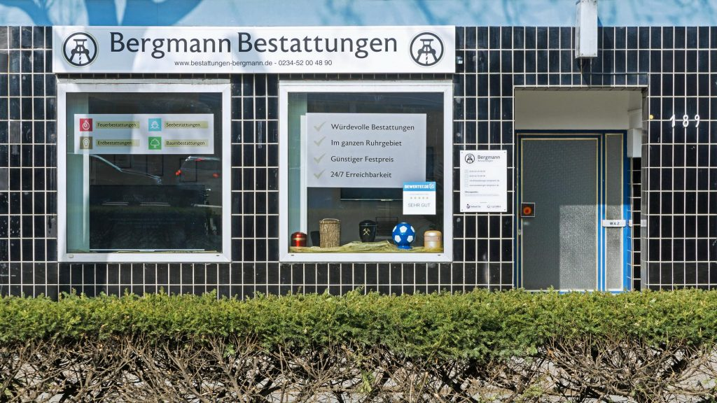 Ladenlokal Bergmann Bestattungen Bochum